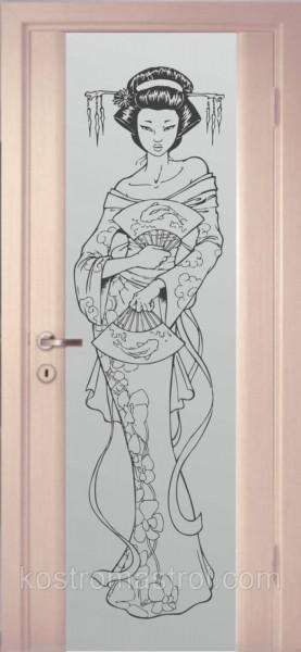 Межкомнатные двери с рисунком на стекле
