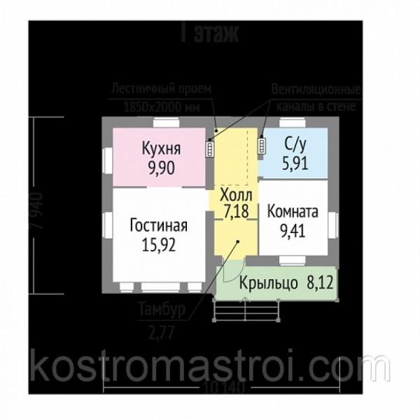 Дом Викинг  размер 7.94х10.14.