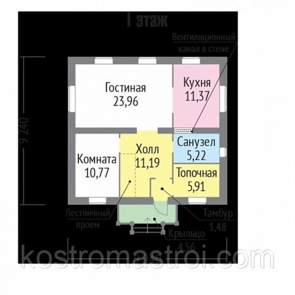 Дом Герцог размер 9.24х9.94