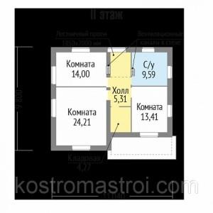 Дом Викинг 1 размер 9.80х11.04