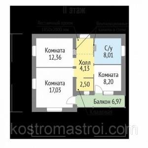 Дом  размер 8.44х10.14