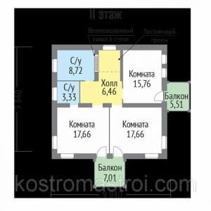 Дом Император  размер 9.84х9.94